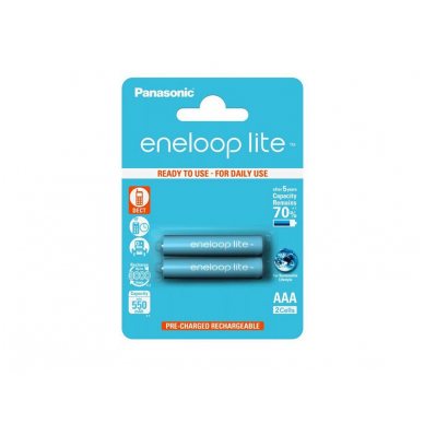 Baterija Panasonic Eneloop Lite BK-4LCCE-2BE