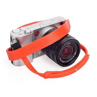 Dirželis fotoaparatui Leica T Silicon Orange-red 5