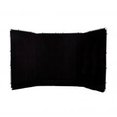 Medžiaginis panoraminis fonas 4m Black