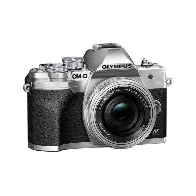 Fotoaparatas Olympus OM-D E-M10 Mark IV Silver 3
