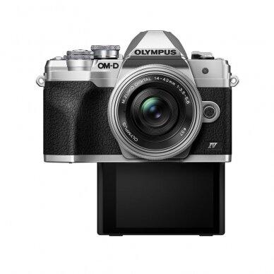 Fotoaparatas Olympus OM-D E-M10 Mark IV Silver 8