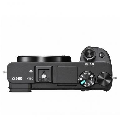 Fotoaparatas Sony α6400 18-135 Kit Black papildoma + 1 metų garantija 5