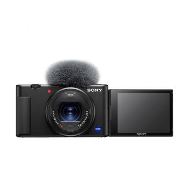 Fotoaparatas Sony ZV-1 su rankena GP-VPT2BT + mikrofonas GP-VPT2BT 5