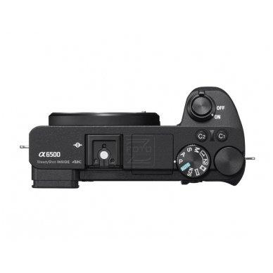 Fotoaparatas Sony α6500 Black + SONY FOTOPAMOKA + 60 mėn. garantija 2