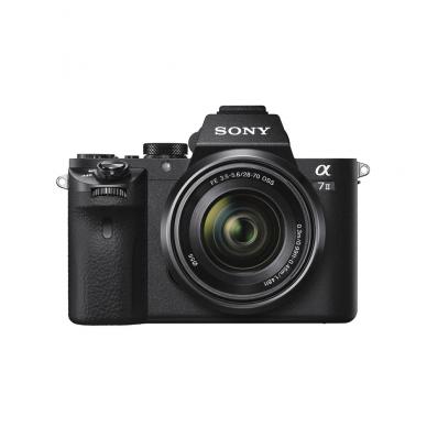 Fotoaparatas Sony α7 Mark II 28-70 Kit + Sony fotopamoka. Garantija 60 mėn.