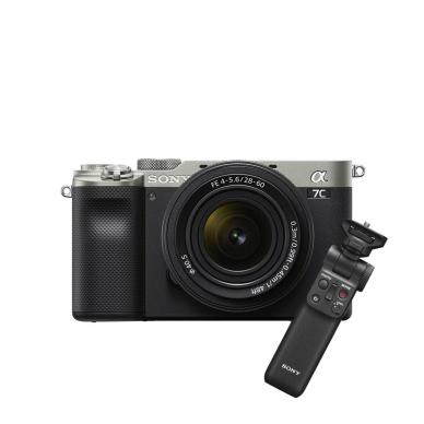 Fotoaparatas Sony Alpha a7C + 28-60mm su rankena GPVPT2BT