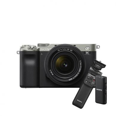 Fotoaparatas Sony Alpha a7C + 28-60mm su rankena GPVPT2BT + mikrofonas ECMW2BT