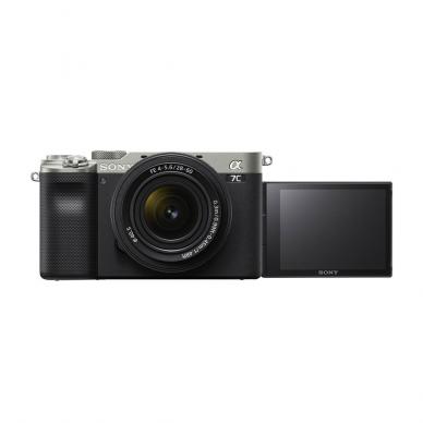 Fotoaparatas Sony Alpha a7C + 28-60mm su rankena GPVPT2BT + mikrofonas ECMW2BT 6