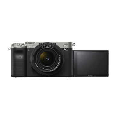Fotoaparatas Sony Alpha a7C + 28-60mm su rankena GPVPT2BT 6