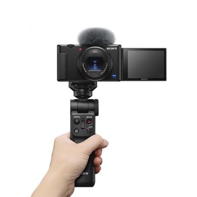 Fotoaparatas Sony ZV-1 su rankena GP-VPT2BT + mikrofonas GP-VPT2BT 3