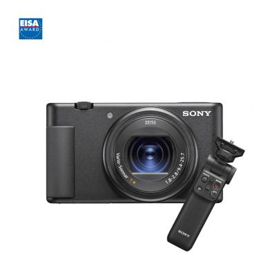 Fotoaparatas Sony ZV-1 su rankena GP-VPT2BT