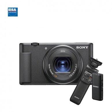 Fotoaparatas Sony ZV-1 su rankena GP-VPT2BT + mikrofonas GP-VPT2BT