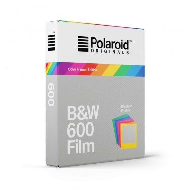 Fotoplokštelės Polaroid Originals B&W 600 Color Frame 8 vnt 2