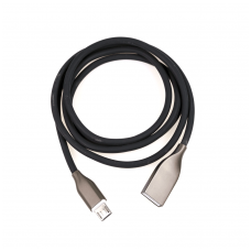 Kabelis silikoninis ExtraDigital USB - Micro USB C 1m (juodas)