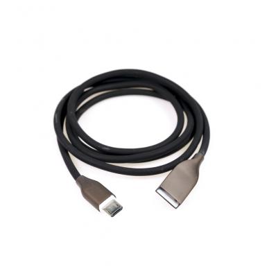 Kabelis silikoninis ExtraDigital USB - Micro USB C 1m (juodas) 3