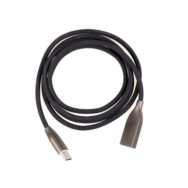 Kabelis silikoninis ExtraDigital USB - USB Type C 1m (juodas)