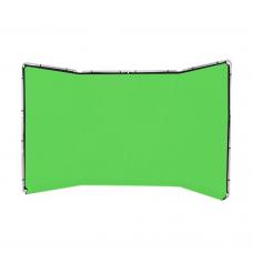 Medžiaginis panoraminis fonas 4m chromakey green