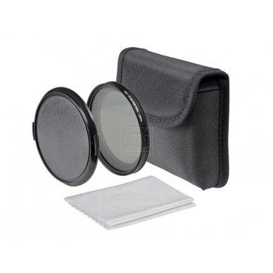 Reguliuojamas ND filtras Kaiser Vario Grey 77mm 3