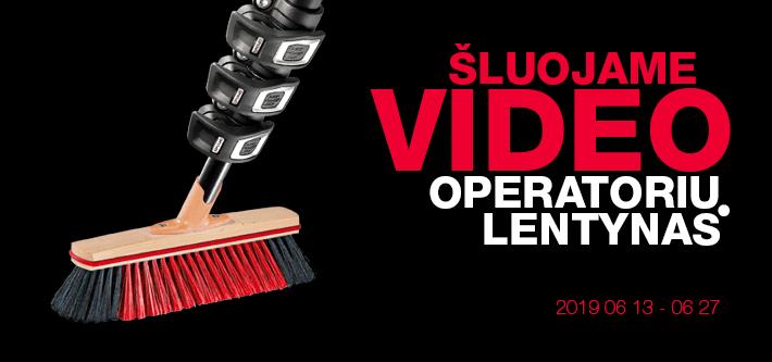 Šluojam video operatorių lentynas