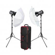 Šviestuvų komplektas Fomei LED 100/100BS Umbrella Kit