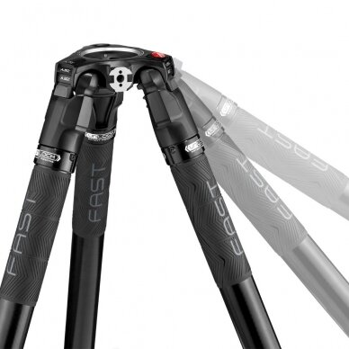 Trikojis stovas Manfrotto 504X 635 Fast Single Carbon 7