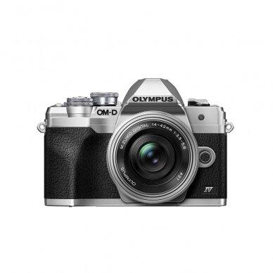Fotoaparatas Olympus OM-D E-M10 Mark IV Silver 9