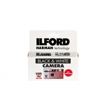 Vienkartinis fotoaparatas ILFORD XP2 super 2